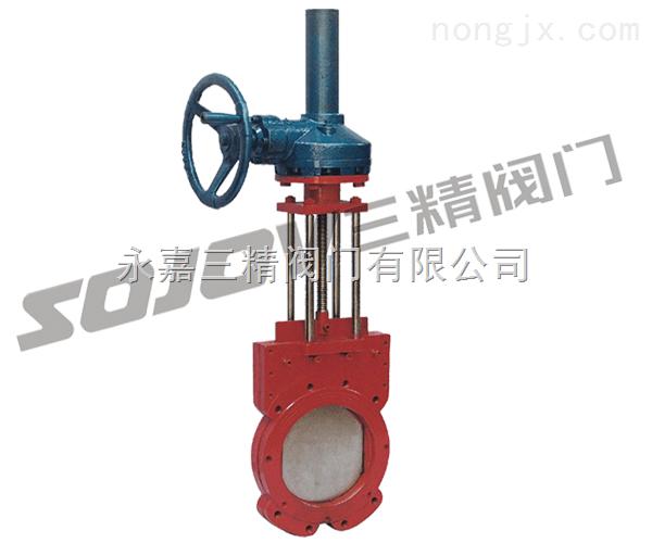 Z573X傘齒輪漿液閥