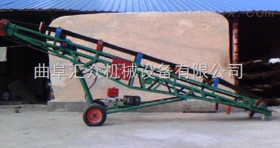 高效袋装粮食装车输送机,行走轮式液压升降皮带机  移动式皮带输送图片
