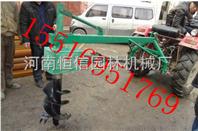 新农拖拉机带式挖坑机价格,经济实用拖拉机挖坑机