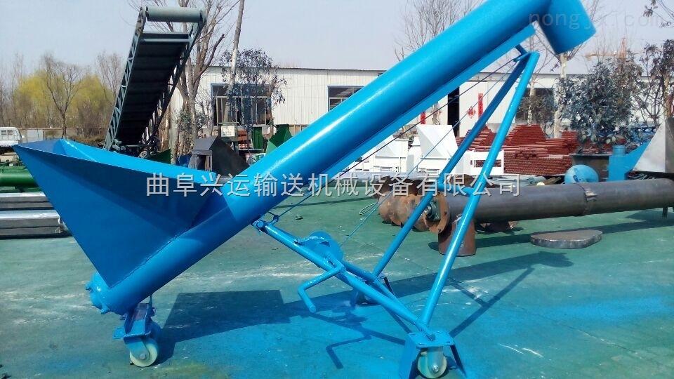 碳钢移动单斗式上料机,螺杆式矿粉输送机