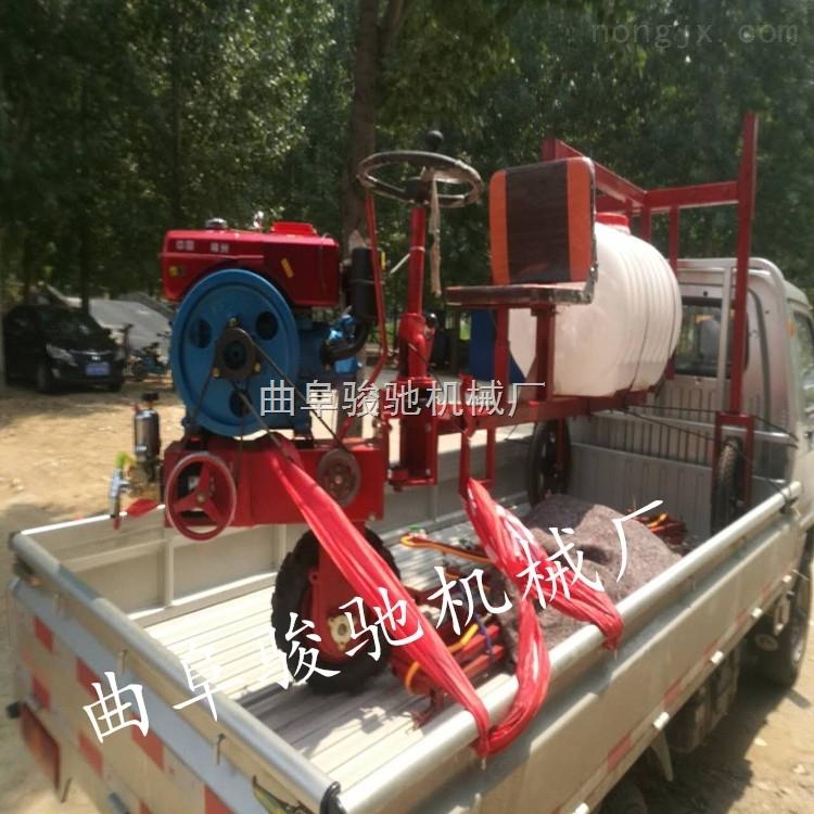 水旱两用打药机 自走式三轮车打药机 柴油喷雾器