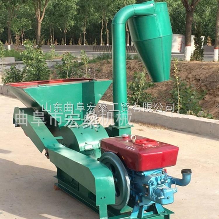 HS 9FQ50-40家用花生秧粉碎机 自动进料粉碎机 稻草粉碎机